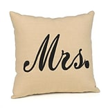 HBH™ Black Mrs. Linen Throw Pillow
