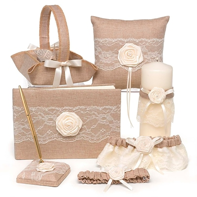 HBH™ Rustic Country Collection Wedding Accessories Set, Tan