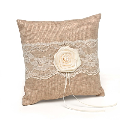 HBH™ Rustic Country 8 x 8 Ring Pillow; Tan