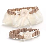 HBH™ Ivory Rustic Country Garter Set