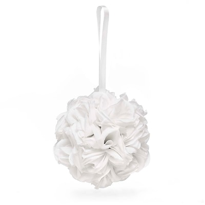 HBH™ 5 Fabric Rose Kissing Ball, White