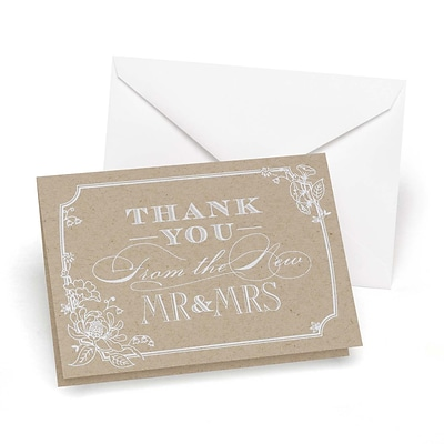 HBH™ Thank You Wedding Note Card, Country Blossom, 50/Pack