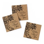HBH™ Kraft Vintage Floral Favor Cards