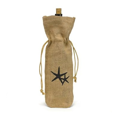 HBH™ 15 Starfish Burlap Wine Bag, Tan