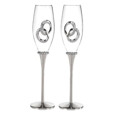 HBH™ 8 oz. Flute Glass, Two Rings, 2/Pack