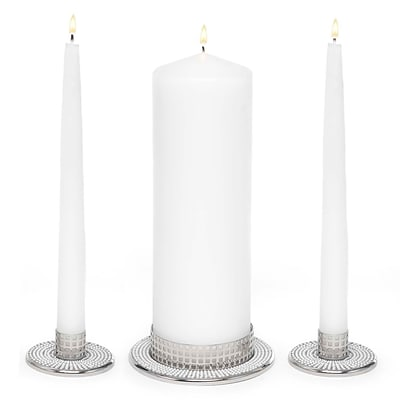 HBH™ Vintage Pearl Candle Stand, White, 3/Pack