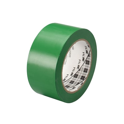 3M™ 2 x 36 yds. General Purpose Solid Vinyl Safety Tape 764, Green, 6/Pack