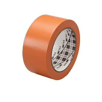3M™ 1 x 36 yds. General Purpose Solid Vinyl Safety Tape 764, Orange, 6/Pack