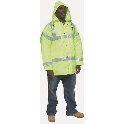Mutual Industries ANSI Class 3 Winter Parka, Lime, XL