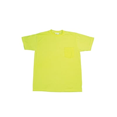 Mutual Industries Gann Durable Flame Retardant Plain Tee Shirt, Lime, 4XL