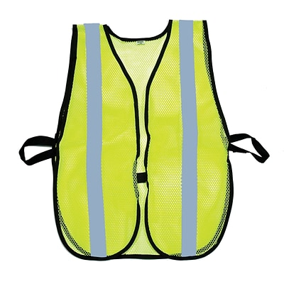Mutual Industries MiViz Soft Mesh Safety Vest With 1 Silver Reflective, Lime
