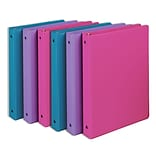 Samsill® Fashion Value 1 Capacity Round Ring Binder, Assorted, 6/Pack