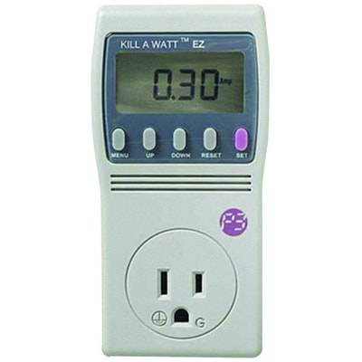 P3 International p4460 Kill A Watt® EZ Electricity Usage Monitor, 1875 VA