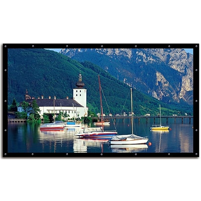 Elite Screens® DIY Pro 94 DynaWhite Outdoor Projector Screen, 4:3, Black Casing