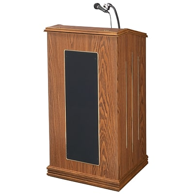Oklahoma Sound 47 Steel & MDF Corporation Lectern, Medium Oak