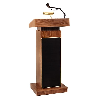 Oklahoma Sound Orator Lectern, Medium Oak