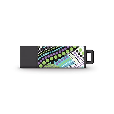 Centon USB Flash Drives, Macbeth Collection, Lucy Dot Icesicle 8GB, USB 2.0