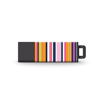 Centon USB Flash Drives, Macbeth Collection, Soc Stripe, 8GB, USB 2.0