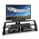 CorLiving™ Taylor Glossy Black TV Stand