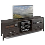 CorLiving™ Jackson Wide TV Bench For 80 TV, Espresso