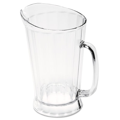 Rubbermaid® Commercial Bouncer® Plastic Pitcher, 60 oz, Clear, Each (RCP 3334 CLE)