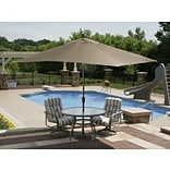 Swim Time™ Caspian 10 x 8 Rectangle Market Umbrella With Auto-Tilt, Terra Cotta Olefin