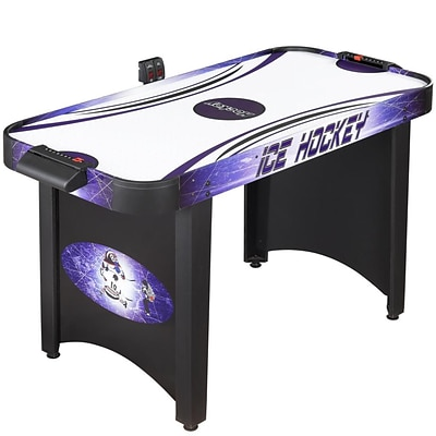 Hathaway™ Hat Trick 4 Air Hockey Table, Black/Purple/Blue