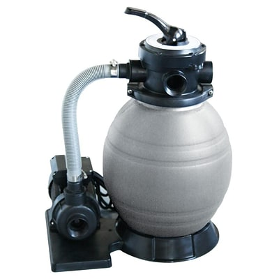 Swim Time™ Small A/G 12 Sand Filter System With 0.5 HP Pump, Gray/Black