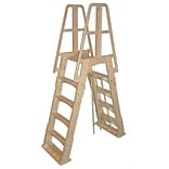 Vinyl Works® Premium A-Frame Pool Ladder For Above-Ground, Taupe