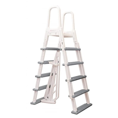 Swim Time™ Heavy Duty A-Frame Ladder For Above-Ground Pools, White