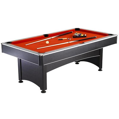 Hathaway™ Maverick 7 Pool Table With Table Tennis, Black/Red/Blue