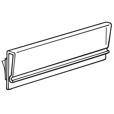 FFR Merchandising® Tip-On 3 Extruded Sign Holder, Clear, 42/Pack