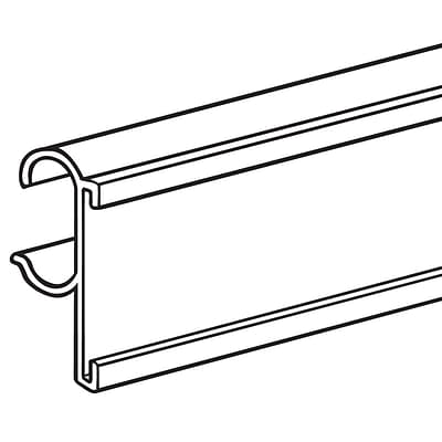 FFR Merchandising® PVC C-Channel For Double Wire Shelf, 29 1/2, White, 5/Pack
