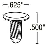 FFR 5/8 BK Channel Fastener