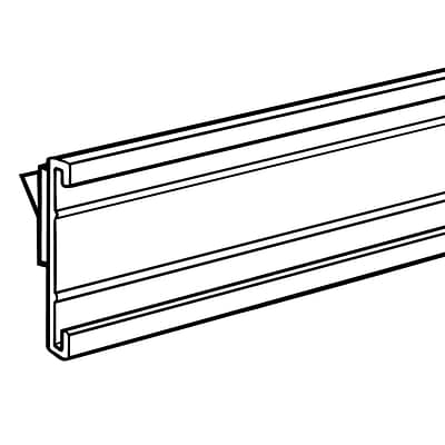 FFR Merchandising® 1 1/4 x 48 Shelf Molding CHC C-Channel With Adhesive Tape, Clear, 3/Pack