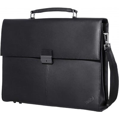 Lenovo® 14.1 ThinkPad Executive Leather Carrying Case, Black