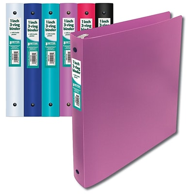 Better Office Products Ring Binder; 24/Pack