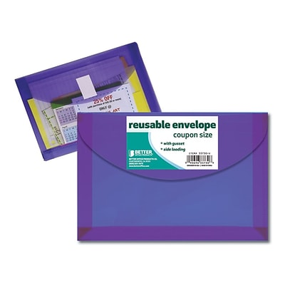 Better Office Products Reusable Envelope, Coupon Size (33730-V)