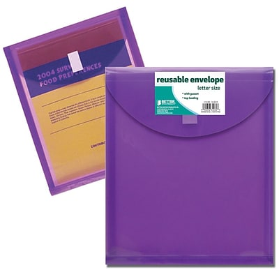 Better Office Products Letter Size; Top Load Reusable Envelope; 24/Pack