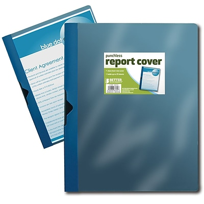Better Office Products Non-Stick Poly Report Cover; 24/Pack