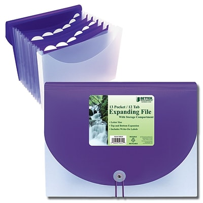Better Office Products Letter Size Expanding File; 8/Pack