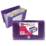 Better Office Products 13 Pocket Coupon Size Expanding File; 12/Pack (58030)