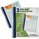 Better Office Products Non-Stick Poly Slide Lock Report Covers Letter Size;  24/Pack