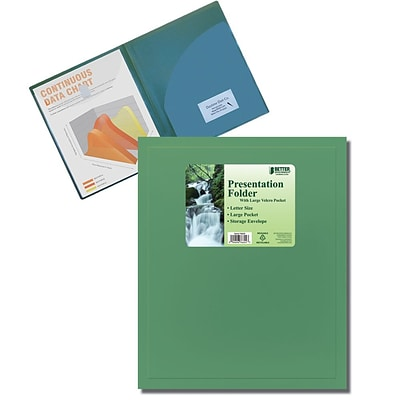 Better Office Products Pocket Poly Presentation Folder;  36/Pack