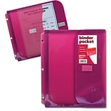 Better Office Products Non Stick Poly Binder Pocket with Gusset; 36/Pack