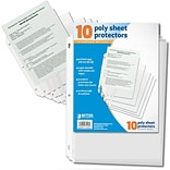 Better Office Products Sheet Protector;  10 Sheets/Pack, 24 Packs/Case