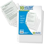 Better Office Products Page Protector Top Load; 10 per Pack, Total of 24 Packs