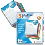 Better Office Products 5 Pk Poly Index Div.;  12/Pack
