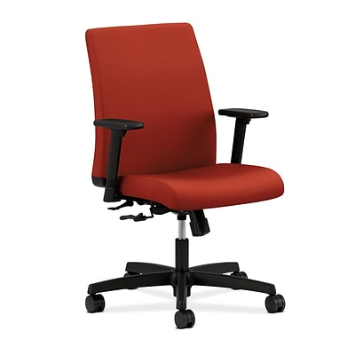 HON Ignition Mesh Low-Back Task Chair, Center-Tilt, Adjustable Arms, Poppy Fabric