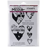6x9 Collaged Hearts Media Stamps